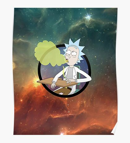 Spaced Rick - Rick and Morty Poster