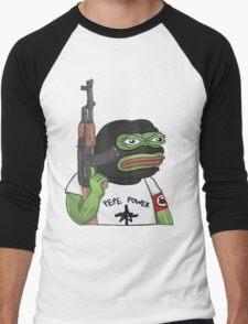 Pepe Power Dank Meme Men's Baseball ¾ T-Shirt