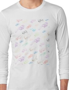 pattern with isometric icons of special equipment and machines Long Sleeve T-Shirt