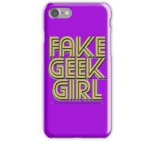 Bona-Fide Fake Geek Girl iPhone Case/Skin
