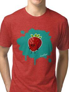 Früchtchen - Erdbeere mit Brille Tri-blend T-Shirt