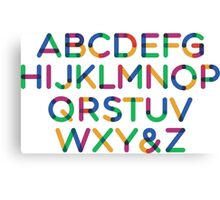 Alphabet multi Canvas Print