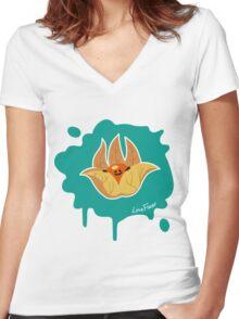 Früchtchen - Physalis  Women's Fitted V-Neck T-Shirt