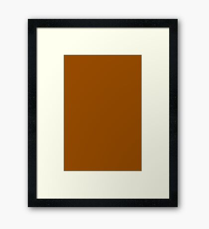Brown  Framed Print