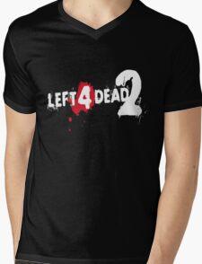LEFT 4 DEAD 2 LOGO Mens V-Neck T-Shirt