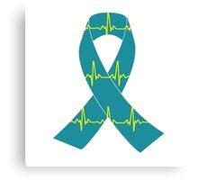 Tachycardia Ribbon Canvas Print