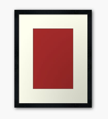 Red Brown  Framed Print