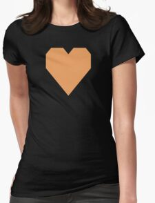 Sandy Brown  Womens Fitted T-Shirt