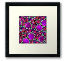 Wild Geometry Alt Color Palette Seamless Pattern Framed Print