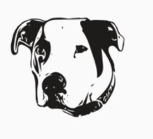 American Bulldog Pit Bull Line Art by Shelley Neff