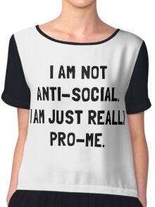 Anti Social Pro Me Chiffon Top