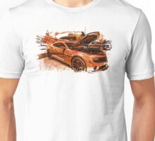 New Chevy Camaro and Vintage Airplane  Unisex T-Shirt