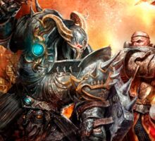 Warhammer Total war Chaos Vs Paladin Sticker
