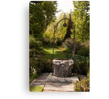 The wishing well Canvas Print