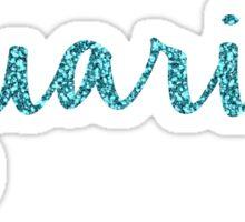 Aquarius Sparkly Symbol Sticker