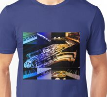 Rainbow Piano and Woodwind Collage Unisex T-Shirt