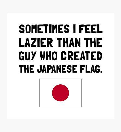 Lazier Japanese Flag Photographic Print