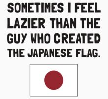 Lazier Japanese Flag One Piece - Long Sleeve