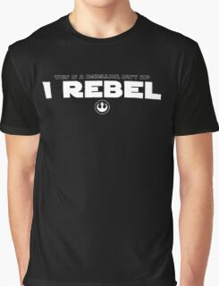 Star Wars : Rogue One - I Rebel - White Clean Graphic T-Shirt