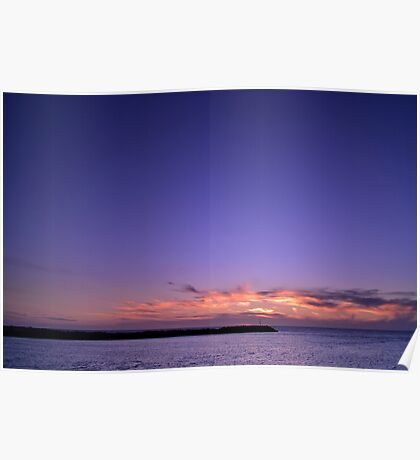 Sunset Blue Poster
