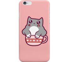 Teacup Gray Kitten iPhone Case/Skin