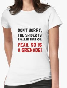 Spider Grenade Womens Fitted T-Shirt
