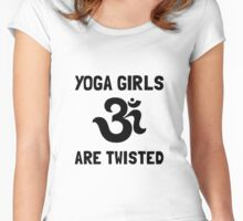 Yoga Girls Twisted Women's Fitted Scoop T-Shirt