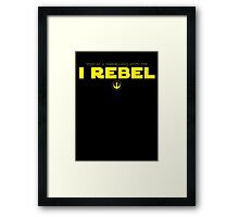 Star Wars : Rogue One - I Rebel - Yellow Clean Framed Print