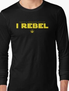 Star Wars : Rogue One - I Rebel - Yellow Clean Long Sleeve T-Shirt