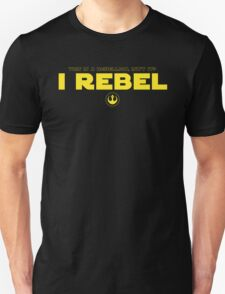 Star Wars : Rogue One - I Rebel - Yellow Clean T-Shirt