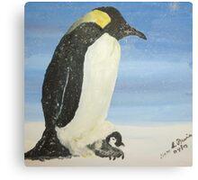 Penguin Plus One Canvas Print