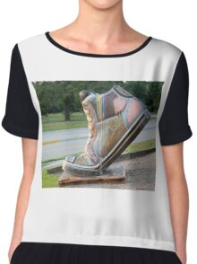 The Big Shoe Chiffon Top