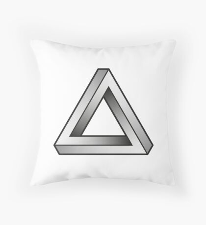 Impossible Triangles Throw Pillow