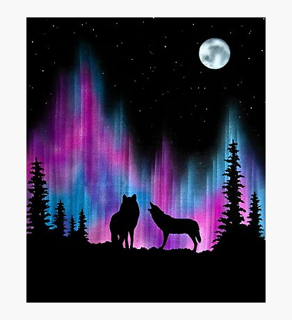 Aurora Wolves 1 by Leslie Berg Photographic Print