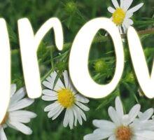 Daisy Filled Circle - Grow Sticker