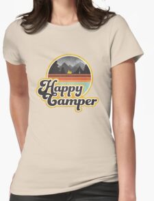 Happy Camper (Retro) Womens Fitted T-Shirt