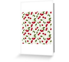 seamless pattern cherry red Greeting Card