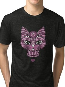 Ornated Cat Tri-blend T-Shirt