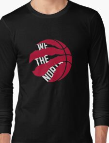 "Toronto Raptors logo ""We The North"" Long Sleeve T-Shirt"