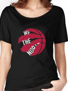 """Toronto Raptors logo """"We The North"""" Women's Relaxed Fit T-Shirt"""