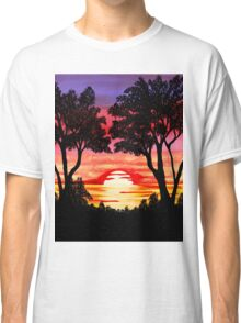 Pink Sunset Painting Classic T-Shirt