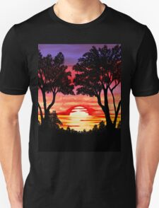 Pink Sunset Painting Unisex T-Shirt