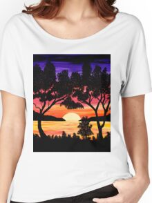 Nature's Gift Ocean Sunset Painting Women's Relaxed Fit T-Shirt