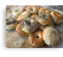 Bagels on a tray Canvas Print