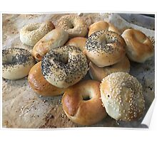 Bagels on a tray Poster