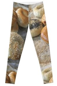 Bagels on a tray Leggings