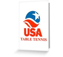 Team USA Table Tennis - Ping Pong Greeting Card