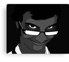 Nerdy Rape Face Canvas Print