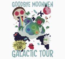 Goodbye Moonmen Galactic tour Rick Collage Kids Tee