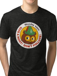 Give a Hoot!  Tri-blend T-Shirt